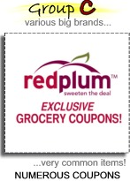 Group C various big brands... numerous coupons